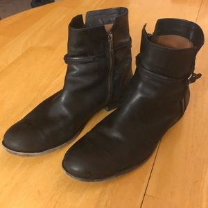 Frye Black Zip Up Boots